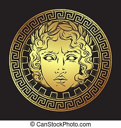 Greek god Apollo vector illustration