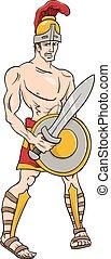 greek god ares cartoon illustration