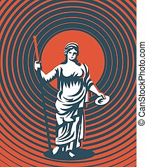 Greek goddess Hera. Vector illustration