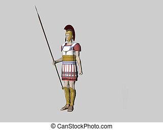 Greek Guard - Isolated greek guard