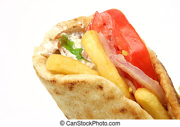 greek gyros kebap - traditional greek food gyros kebap...