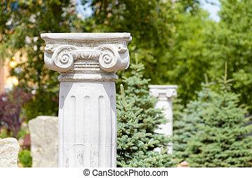 Greek Ionic Columns