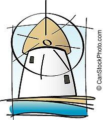 Greek Island Mill