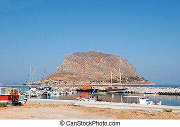 Greek island Monemvasia