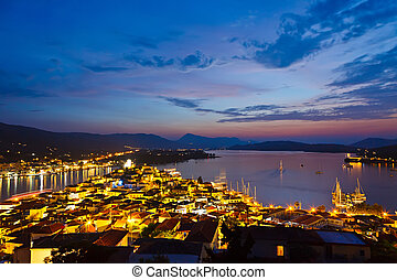 Poros at night