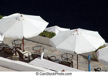 greek island scenic overlook