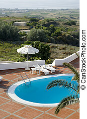 swimming pool panoramic vista - greek islands swimming pool...