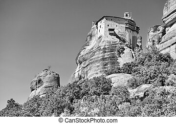 Greek landscape with Agios Nikolaos monastery - Agios ...