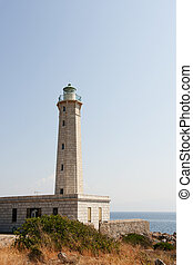 Greek lighthouse - Lighthouse in Gythio at the Greece ...