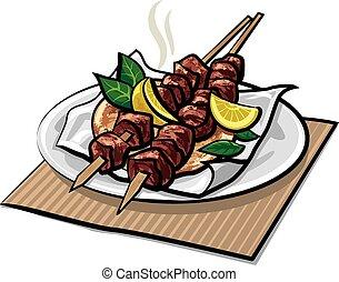 greek meat kebabs