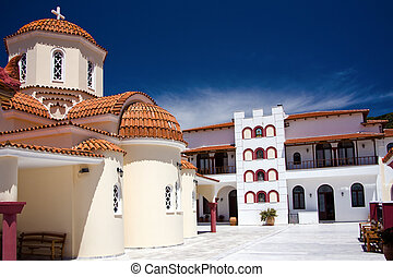Greek monastery - orthodox monastery in Spili, Crete, Greece