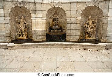 greek mythology sculpture, hof palace in austria
