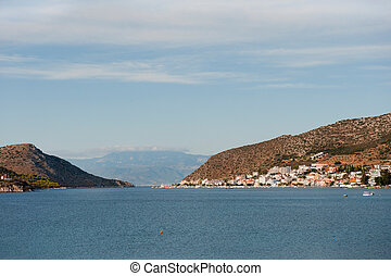 View in landscape at Nafplion on the Peloponnesos in Greece