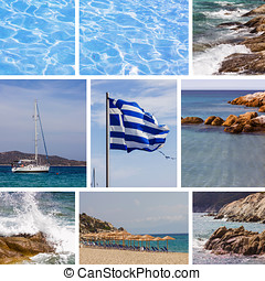 Greek National Flag Summer Vacation