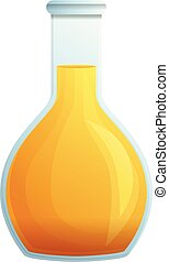 Greek olive oil icon, cartoon style