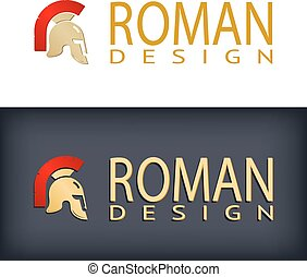 Greek or Roman antique helmet logo