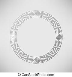 Greek Ornamental Circle Frame