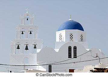 Greek orthdox church in Santorini, Greece