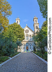 Greek Orthodox Church, Istanbul - View of the main entrance ...