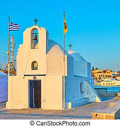 Greek orthodox church of Agios Nikolaos in the port of ...