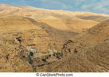 View of the Greek Orthodox monastery of Saint George