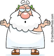 Greek Philosopher Confused - A cartoon Greek philosopher...