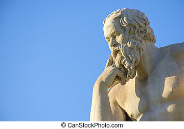 Greek philosopher Socrates in front of the National Academy...
