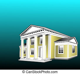Greek Revival Style building was very popular in the...