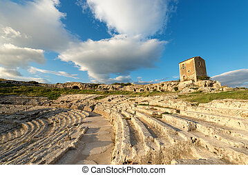 Greek Roman Theater in Syracuse - Sicily Italy