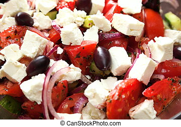 greek salad fresh vegetable salad