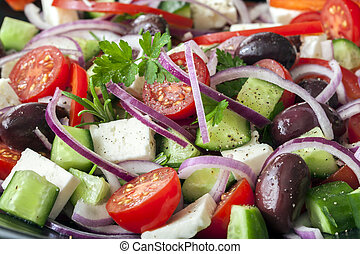 Greek Salad Full Frame