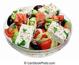 Greek salad - isolated