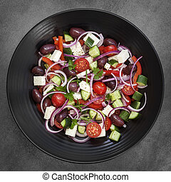 Greek Salad Overhead View