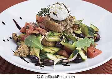 Greek salad with mizithra cheese (2).