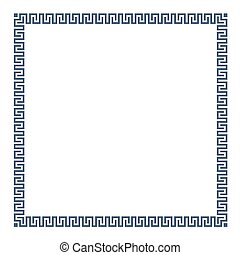 Greek simple decorative frame for design