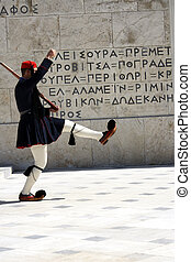 Greek soldier in national