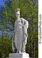 greek statue in a park