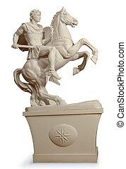 Greek statue of a warrior