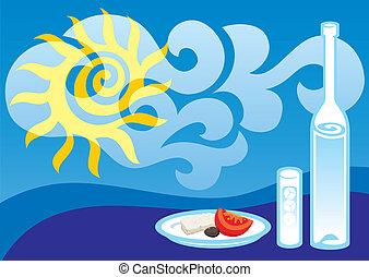 Greek summer vector
