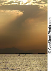 Greek Sunset - Sunset in Greece, very close to Athens on the...