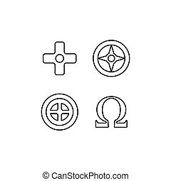 Greek symbols icon, outline style