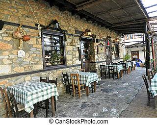 Greek tavern - Outdoor tavern in Paleo Pantelimonas, Greece