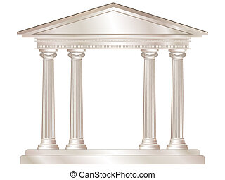 Greek temple - A vector illustration of a classical style ...