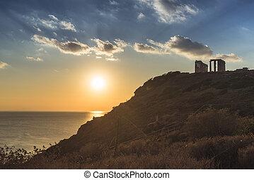 Greek temple of Poseidon, Cape Sounio - Greece Cape Sounion....