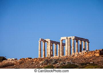 Greek temple of Poseidon Cape Sounio - Greece Cape Sounion....