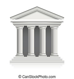 Greek temple vector illustration - Greek temple isolated on...