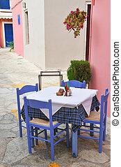 Greek terrace form the restaurant