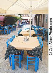 Greek terrace