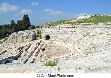 Greek Theater in Syracuse Sicily