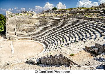 Greek Theatre of Segesta, Sicily, Italy, Summer 2014